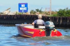 Bob observing the no wake rule
