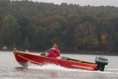 Leslie and Bob take a spin in the Feathercraft