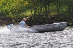 Randy out on the lake