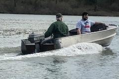 Sherm Caldwell running his Alumacraft and SeeBee 12