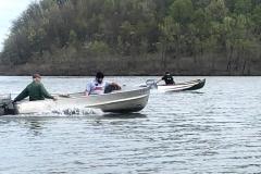 Sherm Caldwell and Tom Mizen on Dillon Lake