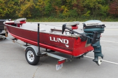 Lund and '56 Evinrude Big Twin Electric