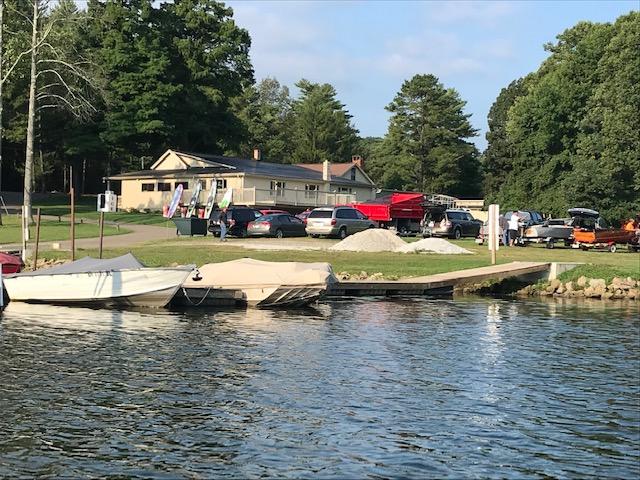 Leesville Marina, site of our meet