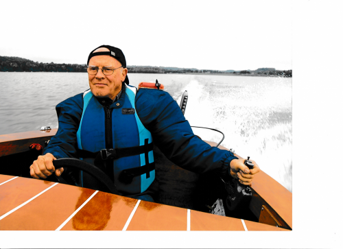 Mike in Boat
